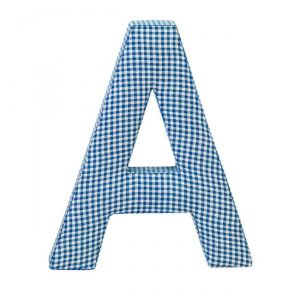 Letras decorativas ABC azul
