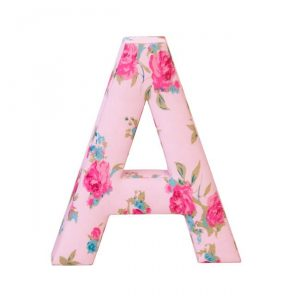 Letras decorativas ABC rosa